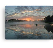 Heron Pond Sunrise Canvas Print