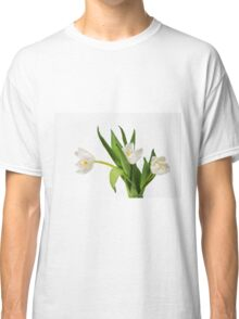 White tulips on white Classic T-Shirt