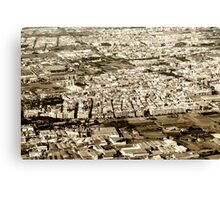 Aerial Photo Of Valencia City Surrounding Area In Spain Canvas Print