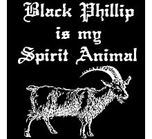 BLACK PHILLIP IS MY SPIRIT ANIMAL - LIVE DELICIOUSLY Photographic Print