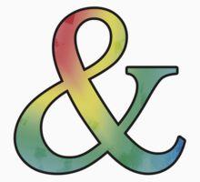 Stained Rainbow Ampersand Kids Tee