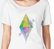 Watercolor Plumbob - No Background Women's Relaxed Fit T-Shirt