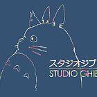 Studio Ghibli Totoro Floral by sarah-star