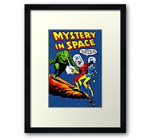 Mistery in Space vintage Framed Print