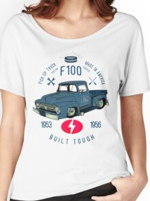 Ford F100 Truck Built Tough Women's Relaxed Fit T-Shirt