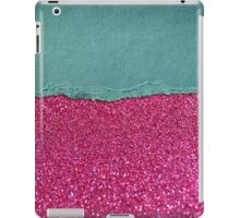 Glitter,glam,hot pink,teal,ripped,parchment,paper,elegant,chic,modern,trendy iPad Case/Skin