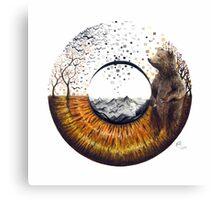 Brown Bear Eye Canvas Print