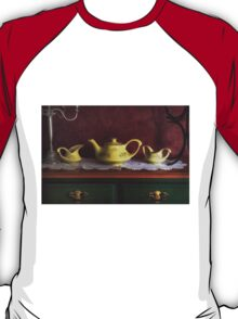 Vintage Yellow Tea Set - Selected in Solo Exhibition women in the arts T-Shirt