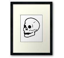 Patch Skull Framed Print