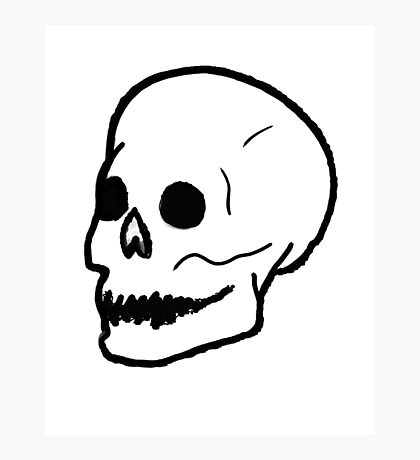 Patch Skull Photographic Print