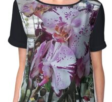 Orchids white and purple Chiffon Top