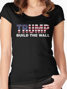 Trump Build The Wall Women's Fitted Scoop T-Shirt