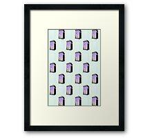 90s Tardis Framed Print