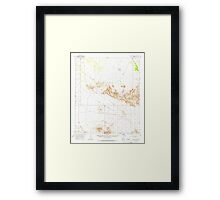 USGS TOPO Map Arizona AZ Childs Valley 314467 1965 62500 Framed Print