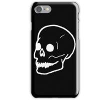 Patch Skull - Black iPhone Case/Skin