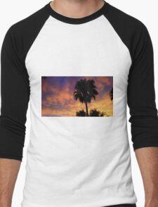 Sunset Clouds on Fire!  Men's Baseball ¾ T-Shirt