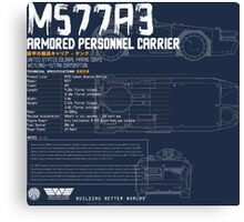 M577A3 Armored Personnel Carrier Canvas Print