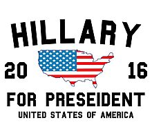Hillary For President 2016 Photographic Print