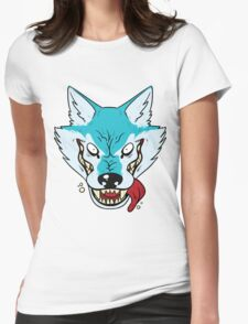 Who's Afraid Of The Big Blue Wolf Womens Fitted T-Shirt