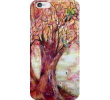 Arbres aux Oiseaux iPhone Case/Skin