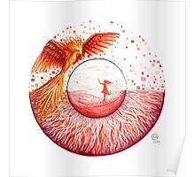 Red Phoenix Eye Poster