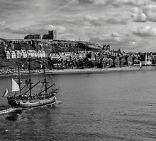Whitby Galleon and Abbey by Peterwlsn