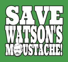 Save Watson's Moustache One Piece - Short Sleeve
