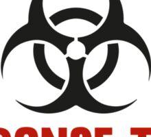 Zombie Apocalypse Response Team Sticker