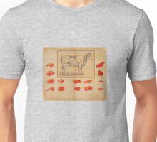 vintage butcher shop ad Unisex T-Shirt