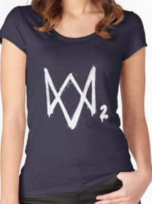 Watch dogs 2 logo Women's Fitted Scoop T-Shirt