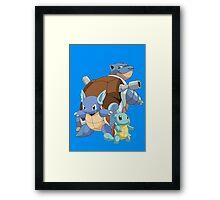 Squirtle Evol Framed Print