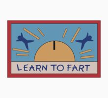 LEARN TO FART - BART´S FLAG Kids Tee