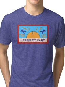 LEARN TO FART - BART´S FLAG Tri-blend T-Shirt