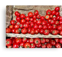 Red Tomatoes Canvas Print