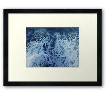 » bird's-eye view over the sea Framed Print