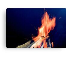 A Roaring Fire Canvas Print