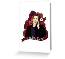 XF Dana Scully  Greeting Card