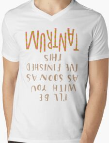 As soon as I've finished this tantrum Mens V-Neck T-Shirt