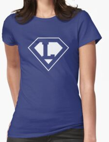 L letter in Superman style Womens Fitted T-Shirt