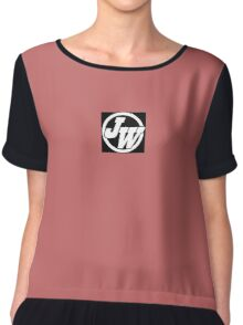 Jason Whiffen Logo Chiffon Top