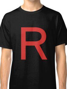 Team Rocket Symbol Pokemon Anime Comic Con Cosplay Costume Classic T-Shirt