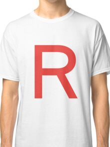 Team Rocket Symbol Pokemon Anime Comic Con Cosplay Costume Classic T-Shirt