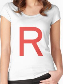 Team Rocket Symbol Pokemon Anime Comic Con Cosplay Costume Women's Fitted Scoop T-Shirt