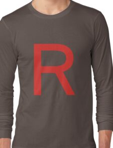 Team Rocket Symbol Pokemon Anime Comic Con Cosplay Costume Long Sleeve T-Shirt
