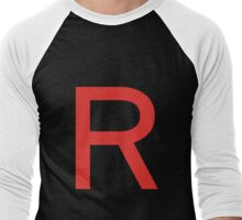 Team Rocket Symbol Pokemon Anime Comic Con Cosplay Costume Men's Baseball ¾ T-Shirt