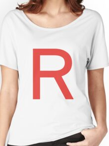 Team Rocket Symbol Pokemon Anime Comic Con Cosplay Costume Women's Relaxed Fit T-Shirt