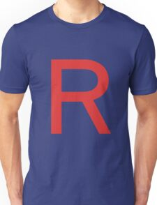 Team Rocket Symbol Pokemon Anime Comic Con Cosplay Costume Unisex T-Shirt
