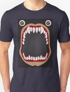 Open mouth on a black background Unisex T-Shirt