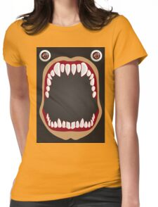 Open mouth on a black background Womens Fitted T-Shirt