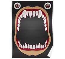 Open mouth on a black background Poster
